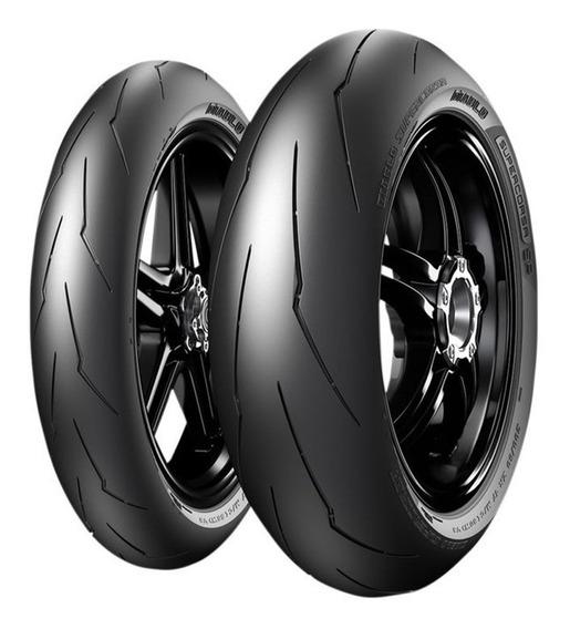 Par Pneu 190/50r17 + 120/70r17 Diablo Supercorsa V3 Pirelli