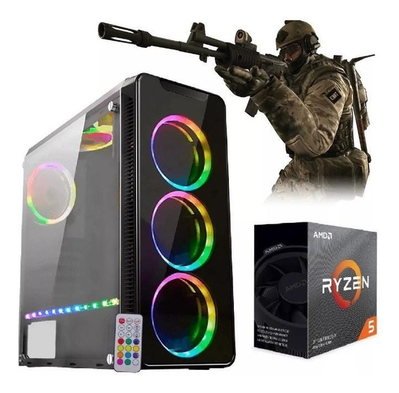 Pc Gamer Ryzen 5 (six Core) + 8 Gb + Hd 1 Tera + Video 4gb