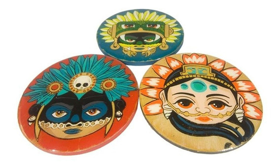 Set De Portavasos Dioses Prehispanicos Mexicanos Neografika