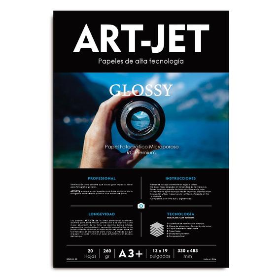 Papel Fotográfico Rc Ultra Glossy Art-jet® 260g A3+ 20h