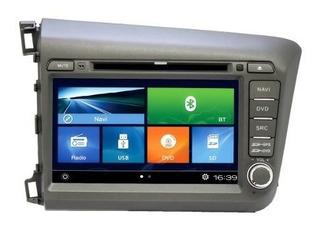 Central Multimídia Dvd Honda Civic(14-15) C Tv Digital Preto