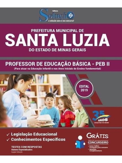 Apostila Santa Luzia Mg 2019 Professor De Educação Básica