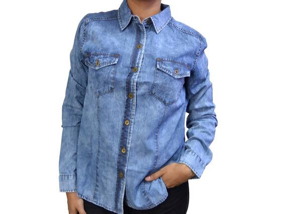 Camisa De Dama De Jean - Cat - M2610204-s