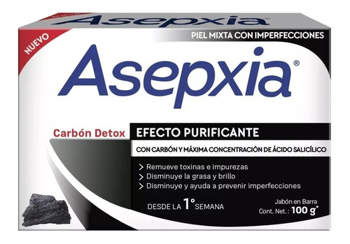 Asepxia Jabón Carbón Detox X 100g