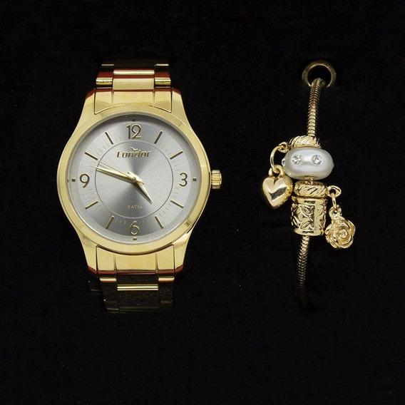 Kit Relógio Condor Feminino Co2036kvl/k4c Com Pulseira