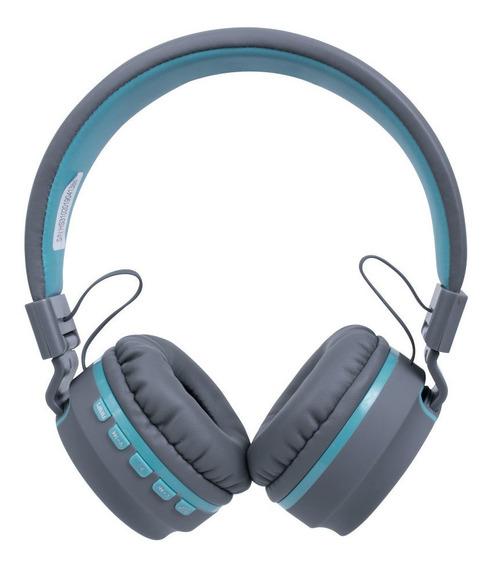 Fone Ouvido Headset Candy Bluetooth Microfone Hs310 Azul Oex