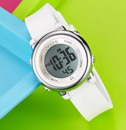 Relógio Feminino Esporte Digital Borracha Oshen® -
