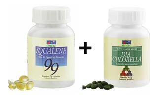 Dia Chlorella 80g + Squalene 120 Cáps. Anew Com Desconto