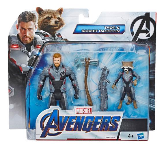 Marvel Avengers 6 Pulgadas Team Pack Thor And Rocket