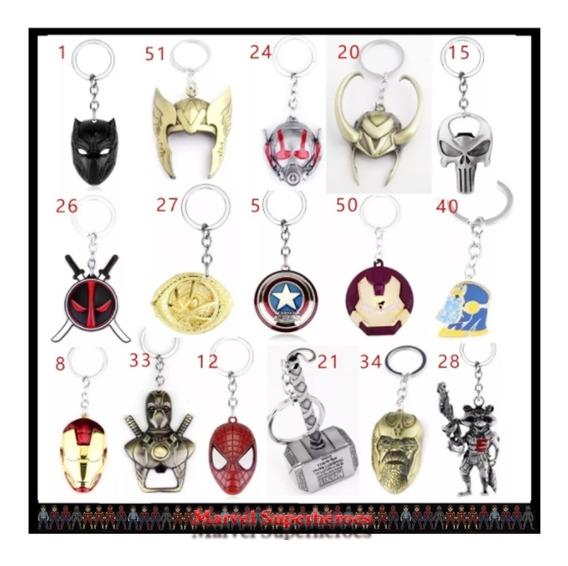 Llaveros Avengers Los Vengadores Marvel Superhéroes Mayoreo