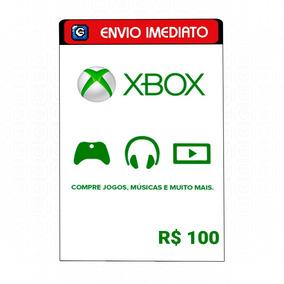 Cartão Presente Microsoft Gift Card Xbox Brasil R$ 100 Reais