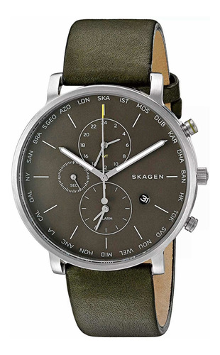 Relógio Masculino Skagen  World Time Skw6928 Pronta Entrega