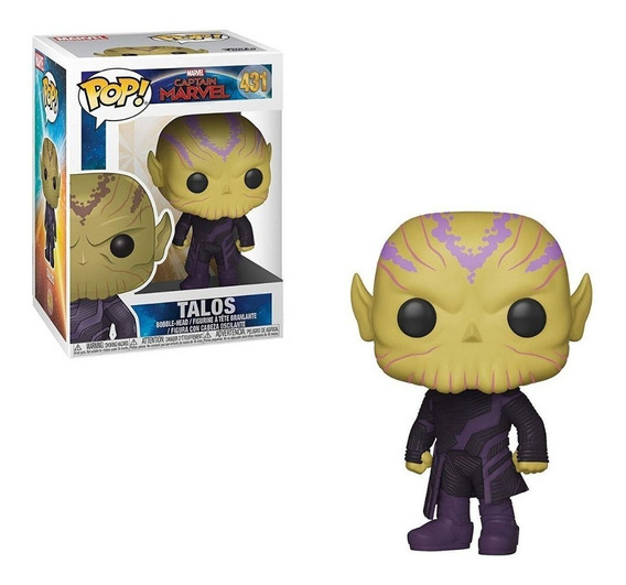 Muñeco Funko Pop Capitana Marvel Talos 431 Original