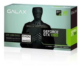 Placa De Vídeo Geforce Gtx Galax 1060 3gb Exoc Black