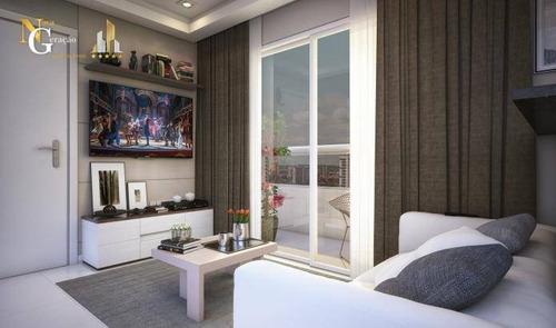 Apartamento Com 1 Dormitório À Venda, 42 M² Por R$ 253.737,00 - Canto Do Forte - Praia Grande/sp - Ap4169