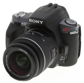 Câmera Sony Alpha Dslr-a330 + 2 Objetivas Frete Grátis