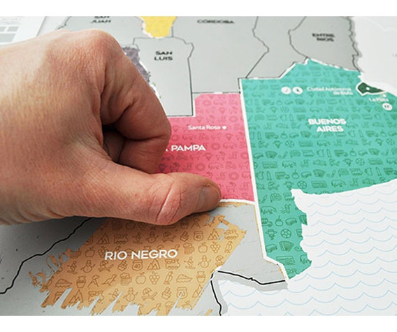 Mapa Raspadita Scratch Para Raspar Argentina Viajeros Tips