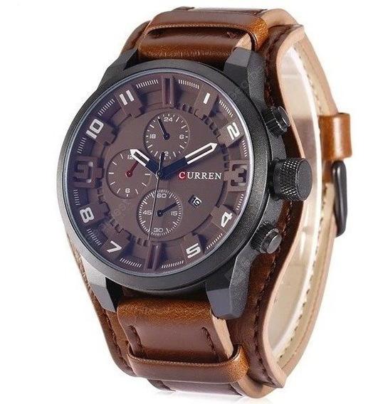 Relógio Masculino Curren 8225 Original Pulseira Em Couro