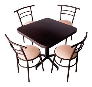 Mesa, Restaurantes,bar,comedor,cocina, Cafeteria C/4 Sillas