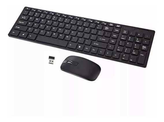 Mini Teclado Mouse Usb Wireless Sem Fio Pc Notebook Smart Tv