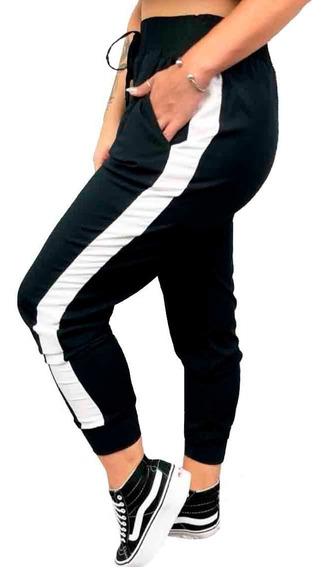 Calça Feminina Jogger Listrada Moletom Inverno2019 Ref.15342