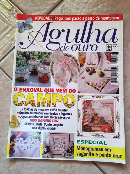 Revista Agulha De Ouro 21 Enxoval Ponto Cruz Monograma N853