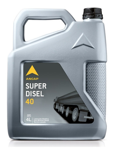 Aceite Ancap Superdisel 40 Envase 4 Litros Lubricante Diesel