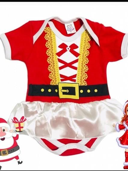 Roupa Para Bebê Natal Body Mamãe Noel