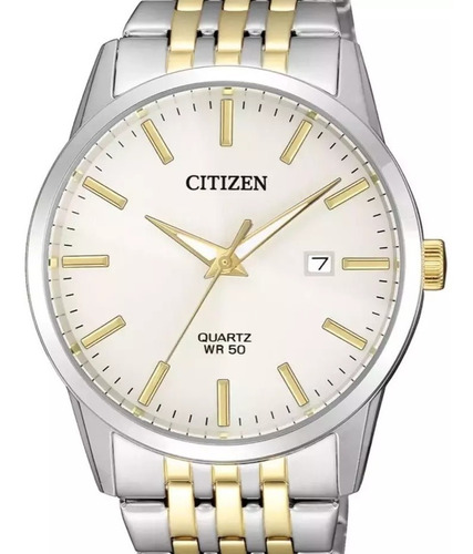 Relógio Citizen Masculino Quartz Prata/ Dourado  Tz20948s