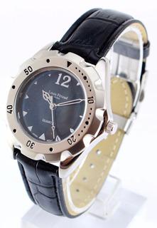 Reloj Louis Feraud Paris Quartz Acero Malla Cuero Garantia O