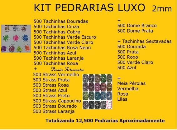 Kit Pedrarias Unhas Luxo 12,500 Pedrinhas P/ Joias De Unhas