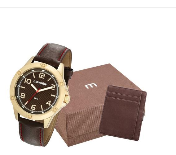 Relógio Mondaine Masculino Dourado 83395gpmvdh1k1 + Nf-e