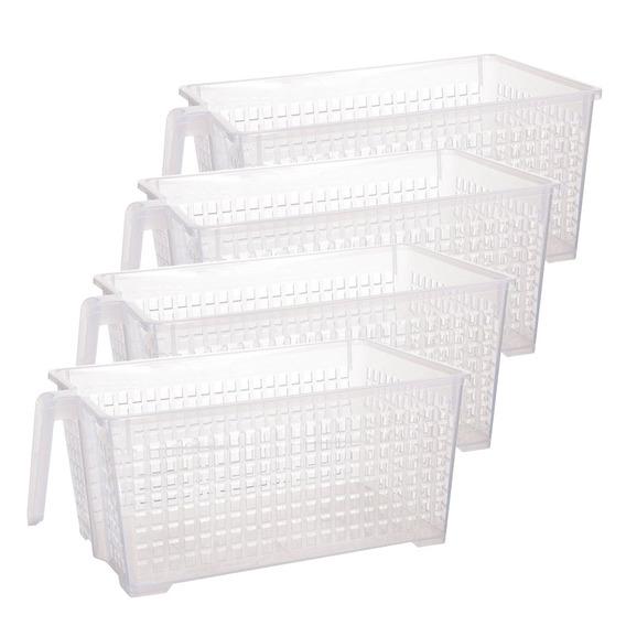 Canastos Organizador Plastico Mediano Manija Colombraro X 4
