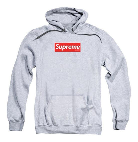 Moletom Swag Masculino Supreme Logo Em Vermelho