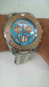 Relógio Ferrari Masc Rose/prata T13ko68a Original E Barato