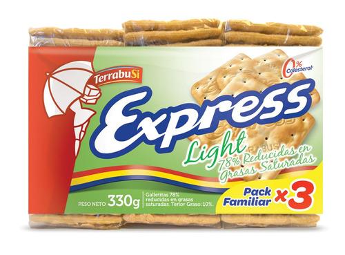 Imagen 1 de 1 de Galletita Express Light 330g pack x 3u
