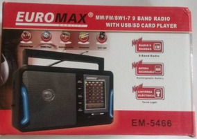 Radio Portatil 9 Bandas Euromax Em-5466