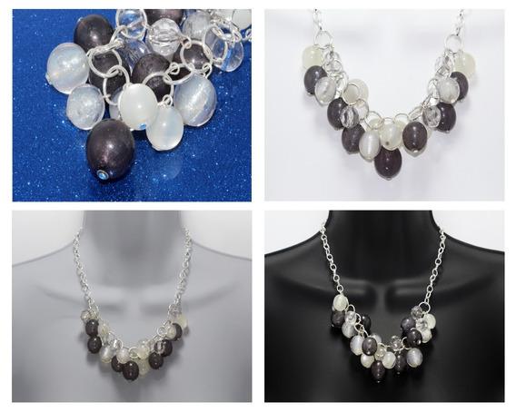 Collar Vintage Moda Acrílico Perlas Joyeria Bisuteria Cc262