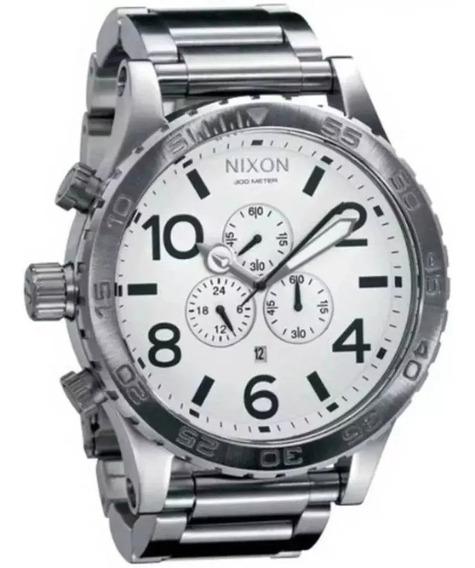 Relógio Vcx8547 Nixon A083-100 Prata Original Promocional
