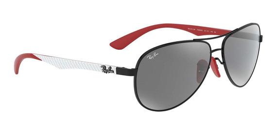 Óculos Ray Ban Ferrari Fibra De Carbono Rb8313m F0096g-61