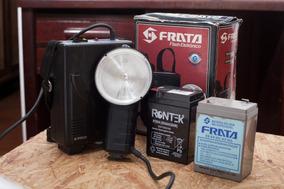 Flash Frata 140 Com Bateria E Carregador Originais.