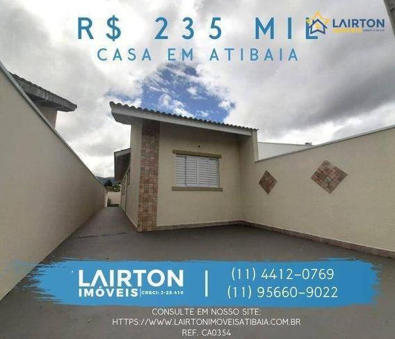 Ótima Casa Térrea, Nova À Venda No Jardim Imperial - Atibaia Sp - Ca0354
