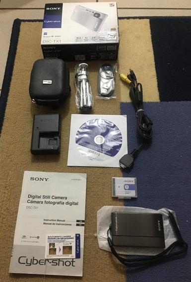 Câmera Digital Sony Cyber-shot Dsc-tx1 Completa Na Caixa