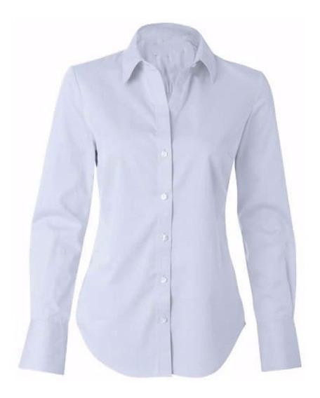 Camisete Camisa Branca Social Feminina Pluz Size 52 A 54