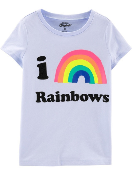 Remera Nena Oshkosh Originals I Love Rainbows