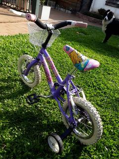 Bicicleta Nena Barbie Kelinbike Rosado 12. Lila