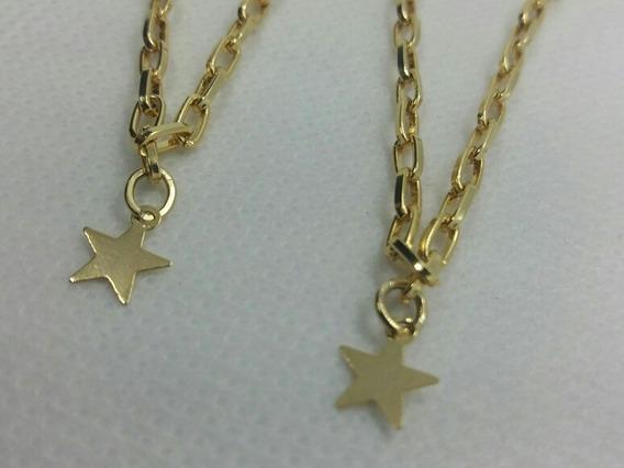 Pulseira Together Forever Banhada A Ouro Kit 2 Und Namorado
