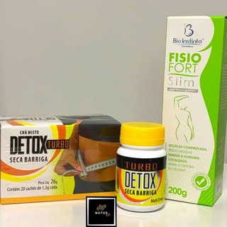 Detox Turbo + Chá Seca Barriga + Brinde (gel Redutor)