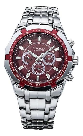 Relógio Masculino Curren Aço Inoxidável Com Frete Gratis