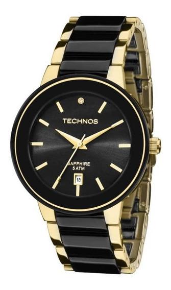 Relógio Technos Feminino Ceramic Elegance 2115krs/4p